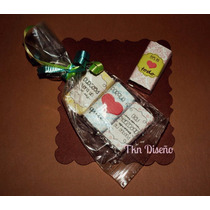 10 Bolsas Mini Chocolate Personalizado Baby Shower Xv Boda