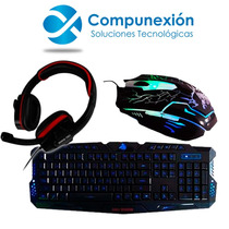 Kit Gamer Teclado, Mouse Y Diadema Eagle Warrior