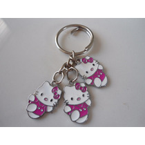 Hello Kitty Llavero De Dijes Acero Inoxidable 0161