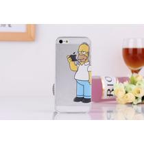Funda Homero Simpson Iphone 5s, 5g, 5c Mica+ Stylus Ipho5