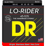Dr Strings Lo-rider - Acero Inoxidable Núcleo Hex Bass 45-10