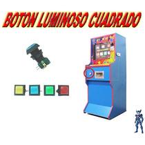 Boton Luminoso Cuadrado Para Maquinas All Play Tragamonedas