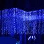 Luces Navideñas Tipo Cortina/cascada.300 Leds. 3x3m. Colores