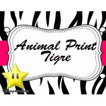 Kit Imprimible Animal Print Zebra Y Tigre Diseñá Tarjeta 2x1