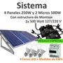 Panel Solar Interconectado Cfe 280kwh Bimestral