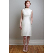 Vestido De Novia Corto Boda Civil Envio Gratis Mod.0025