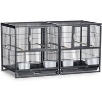 Prevue Pet Products Hampton Deluxe Dividido Criador Jaula Ne