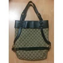 Preciosa Bolsa Gucci Bucket Halted Bag Piel Fina Grande!!