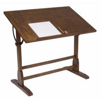 Escritorio Mesa De Trabajo Restirador Antiguo Dibujo 107 Cm
