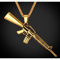 Collar Ak-47 De Chapa De Oro De 18 Kilates !! Komander