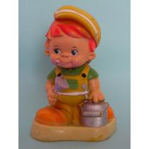 Alcancia Vintage Coleccionable Niño Pintor Drecuerdo
