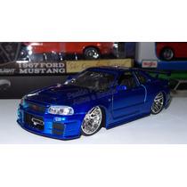 1:24 Nissan Skyline R34 Azul Brian Rapido Y Furioso Jada Dis