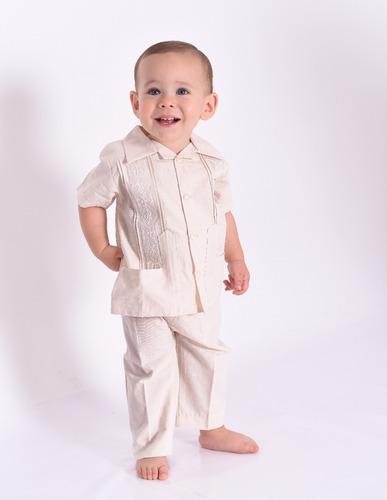 gran variedad de comprar nuevo calidad y cantidad asegurada Guayabera Conjunto Con Pantalon Manta Niño Tepa en venta en ...