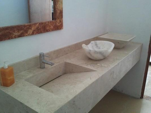 lavabos para baos de marmol moderna minimalista 3200 - Baos De Marmol