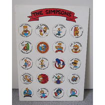 Tazos De Los Simpson Set Completo 20 Milk Caps 1993