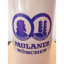 Tarro Cerveza Paulaner Munchen Alemania Europa Beer Souvenir