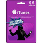Tarjeta Gift Card Itunes De 5 Usd Para Iphone Ipad Ipod Mac
