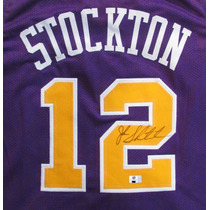 Jersey Autografiado Firmado John Stockton Utah Jazz Nba
