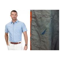 Camisas Nautica Azul Y Talla Xxl Algodon Con Lino Original