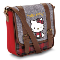 Hermosa Bolsa Tipo Cartero Hello Kitty Original Mezclilla