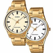Reloj Caballero Casio Mtpv005 Dorado - Cfmx
