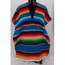 Poncho Mexicano Adulto Varios Colores Unisex
