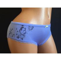 Victorias Secret Panty Hiphugger Con Bordados Lila M P98