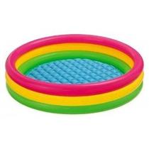 Intex Kiddie Pool - Summer Sunset Glow Diseño Niños - 58 X