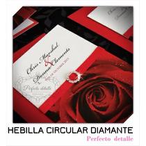 25 Hebillas Circular Diamante Decoracion De Invitaciones