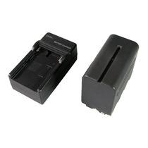 Kit Bateria Npf970 Con Cargador Pared Y Carro Lampara Led
