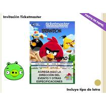 Ki-017 Kit Imprimible Y Editable Angry Birds