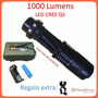 Mini Lampara Tactica 1000 Lumens Cree Led Q5 Recargable