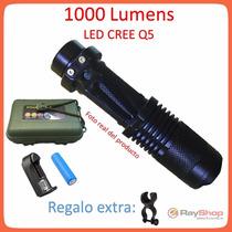 Mini Lampara Tactica 1000 Lumens Cree Led Q5 Recargable