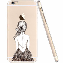 Funda Transparente Con Hermosos Diseños Iphone 6 Plus