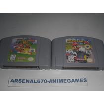 Nintendo 64 Mario 64, Kart, Party Y Tennis Portada Reimpresa