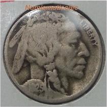 Moneda 5 Centavos Nickel Indio Bufalo 1925 S Usa
