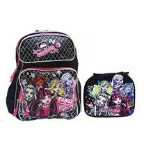 Monster High Mochila Grande Con Bolsa De Almuerzo Con Aislam