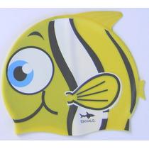 Gorras Para Natación Modelo Animals, Estilo Pez Amarillo