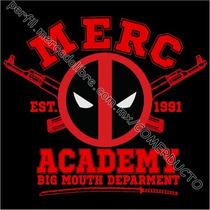 Playera Deadpool Merc Academy Playeras Deadpool Ebcs