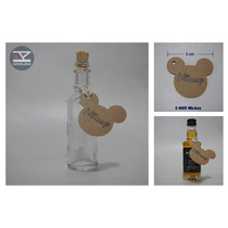 E-009 Etiqueta Mickey Vintage Kraft 24 Pz Personalizadas