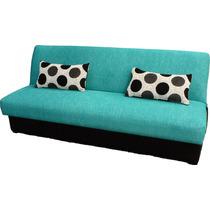 Sofa Cama De 3 Posiciones Con Pijamera En Chenille Con Tacto