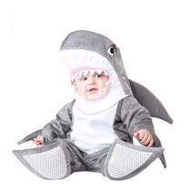 Traje Disfraz Bebe Pequeña Shark Tiburon Halloween Niño Niña