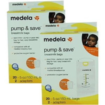 Medela Pump & Save Leche Materna Bolsas - 20 Pack (juego De