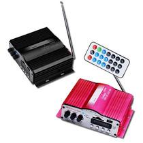 Amplificador 1200w Usb Sd Radio Fm Para Moto Auto Casa Xaris