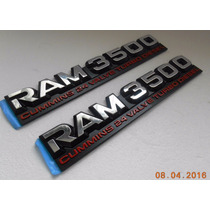 Emblemas (2) Dodge Ram 3500 Cummins 24 Valve Turbo Diesel