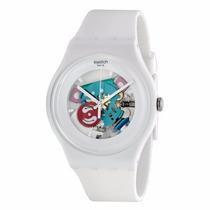 Increible Reloj Swatch Color Blanco