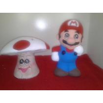 Alcancias Recuerdos De Mario Bros Paq. 15 Pzas Pintadas