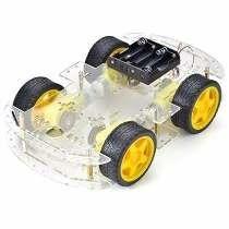 Kit Chasis Carro Robot Cuatro Llantas