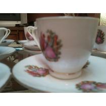 Bazar: Juego De 4 Tzas Y Platos Te Porcelana China