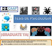 Tesis De Psicología Asesorías